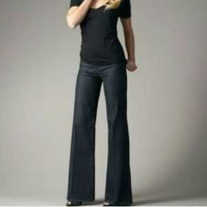 Joe's Jeans Wide Leg Trouser Dark 27 x 32 Welt Pkt